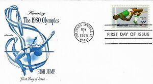U.S. 1979 OLYMPIC HIGH JUMP 31c Airmail Scott #C97 on a Artmaster FDC Cachet U/A