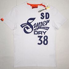 NWT SUPERDRY Mens Vintage Cali Tails Entry Tee Shirt Top Orange Label WHITE Sz M