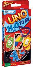 Mattel - Kartenspiel Uno H2O, mit Kunststoffkarten in einer wasserdichten Tasche