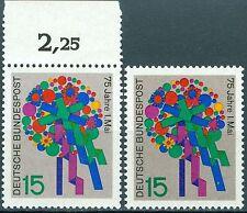 Bund 475 75 Jahre Tag der Arbeit ** mit Hintergrundfarbe hell- und kräftiggrau