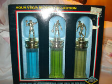 Vintage Aqua Velva Sports Collection Ice Blue Frost Lime Redwood After Shave BOX