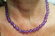 Strand/String Natural Amethyst Fine Necklaces & Pendants