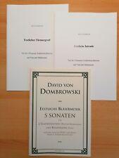Musiknoten : 7 Trios als Konvolut für 2 Posaunen und Tuba.