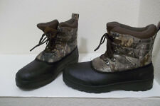 MENS OZARK TRAIL THINSULATE CAMO WINTER SNOW HIKING HUNTING BOOTS SZ 10 NICE!