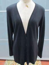 Robert Rodriguez Snap Front Open Back Silk / Cashmere Cardigan Size L
