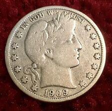 1909 Barber Half Dollar...Fine
