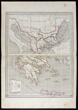 1840/50 Carte ancienne Grèce Turquie