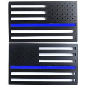 Black Blue USA Flag Car Fender Rear Trunk Decoration Emblem Badge for Silverado