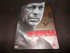 2 Disc R2 DVD Bruce Willis DIE HARD 4 STEELBOOK CASE Ultimate Action Edition 4.0