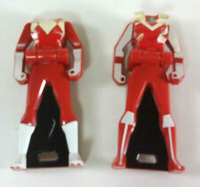 2 Damaged Sentai Ranger Keys Zyuranger Maskman Red Gokaiger Headless Tested!