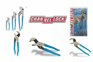 Channellock GS-3 3 Piece Straight Jaw Tongue and Groove Plier Set USA Steel