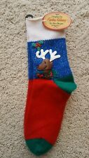 Vintage 1987 Cynthia McKinney Rudolph Christmas Socks NWT
