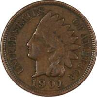 1901 Indian Head Cent VF Very Fine Bronze Penny 1c Coin Collectible