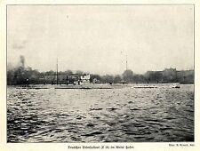 Seekrieg 1914 * Deutsches Unterseeboot (U16) im Kieler Hafen *  WW1