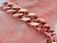 "Copper Bracelet 8 5/8"" Linked Wheeler Sciatcia Arthritis Healing Folklore cb 287"