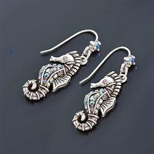Sweet Romance Shimmering Seahorse Pierced Earrings ~Made in California~