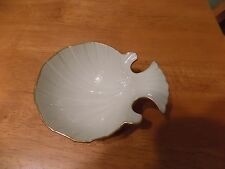 Rare Lenox China Porcelain Fish Plate / Dish Ivory w/ Gold Trim