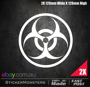 BIO HAZARD LOGO STICKER 120mmW Zombie Attack Bio shock  Car van Decals Truck 4X4