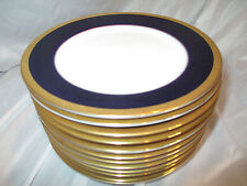 Noritake Valhalla Legacy #2799 Cobalt Blue Gold Band 12 Bread & Butter Plates