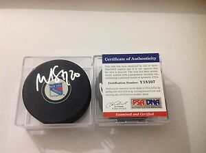 Martin St. Louis Signed Hockey Puck New York Rangers PSA DNA COA Autographed a
