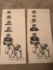 Phil Simms New York Giants 1981 Shell Oil Prints Lot of 10