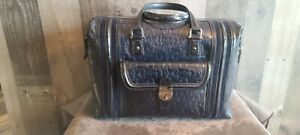 GUCCI Large Doctor Bag HORSEBIT EMBOSSED NAVY BLUE PATENT LEATHER Never Used