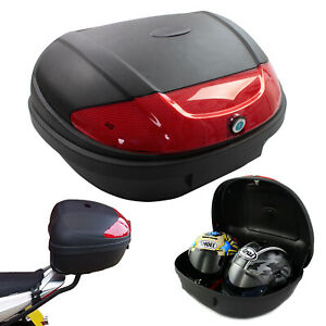 MOTORCYCLE TOP BOX EXTRA LARGE XL 52L UNIVERSAL FITTING LUGGAGE FITS 2 HELMETS