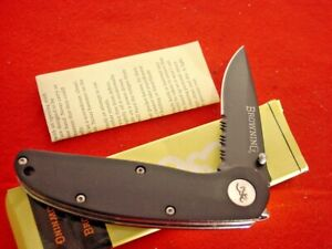 "Browning Knives 4-1/8"" Linerlock Lock Blade Knife MINT IN BOX ld"