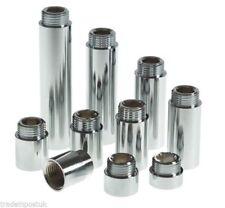 Radiator Valve Extension Round Chrome and taps. 10-15-20-25-30-40mm