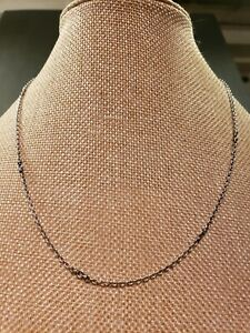 """lagos necklace 18"""" long dainty 2mm wide in good condition"""