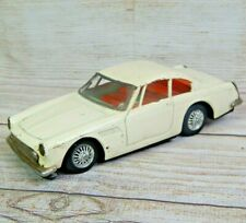 Vintage Tin Friction 1960'S Ferrari 250GT 2-Door White Coupe Bandai Japan Litho