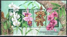 Joint Issue 1998 Singapore blok 62 orchideeën orchids cat waarde € 12