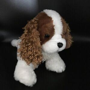 "Ganz Webkinz Cavalier King Charles Spaniel plush stuffed animal white brown 11"""