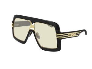 Gucci Occhiali da Sole GG0900S  005 Nero giallo Uomo  Autentici