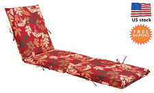 Bossima Outdoor/Indoor Cushion Patio Garden Chaise Lounge Chair Seat Pad Floral