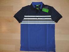 Hugo Boss Green GR-Paule 1 Golf Navy Blue Slim Fit Polo S M L XL XXL Fine Cotton