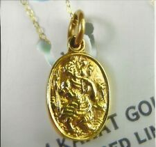 """MOTHERS DAY GIFT SOLID 14 & 375 K GOLD ST CHRISTOPHER 18"""" sweet 15 or 16 gift"""