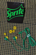 Sprite EarBuds w/extra buds BNIP! VHF! Not Sold in Stores! NEW! FREE US SHIPPING