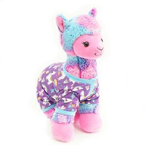 "Build A Bear Llama Cotton Candy Rainbow w Vest BABW Plush Stuffed Toy 15"""