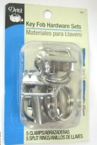 KEY FOB HARDWARE SETS...5 CLAMPS