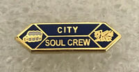 Cardiff City Supporter Enamel Badge - Very Rare Soul Crew - Feared Hooligan Firm