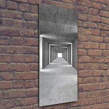 Wand-Bild Kunstdruck aus Hart-Glas Hochformat 50x125 Tunnel