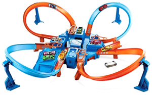 Hot Wheels Criss Cross Car Crash Track Set Cars Manoeuvre Loops Kids Toy