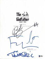 The Godfather Part II Cast Signed Script Pacino Coppola Shire Duvall BAS COA