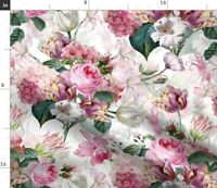 Tulip Shabby Chic Summer Flowers Cottage Chic Spoonflower Fabric by the Yard