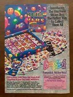 1991 Lisa Frank Fantastick Sticker Box Vintage Print Ad/Poster 90s Art Décor