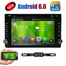 Quad Core Android 6.0 6.2'' Double 2Din Car DVD Player Radio Stero GPS Wifi +CAM