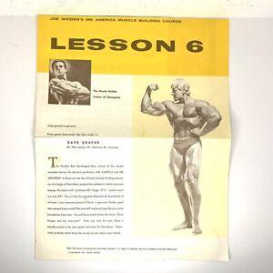 VTG Joe Weider's Mr. America Muscle Building Course Dave Draper Lesson 6