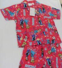 Disney Frozen Girls PJ Summer Short Sleeve Shirt & Shorts 100% Cotton Free Post