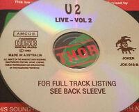 U2 Live Vol. 2 Australian CD Super Rare Bono Help, Pride (In The Name Of Love)